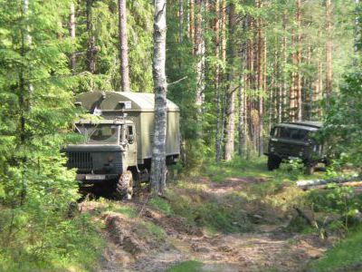 Пробиваемся по лесовозным просекам