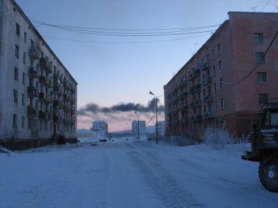 Посёлок Угольный перед Зырянкой.