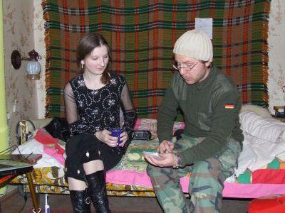 Келлер общается с журналисткой М. Дёмочкиной.