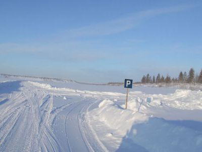 Ледовый колымский паркинг.