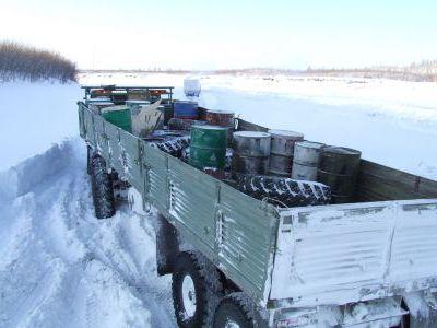 Билибинские идут за грузами аж в Хабаровск.