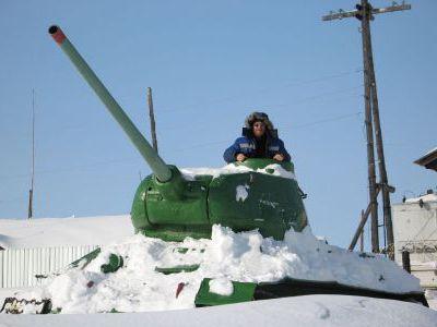 Андрюха Келлер в самом северном танке Т-34.