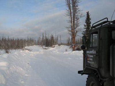 На зимнике Усть-Кут - Мирный
