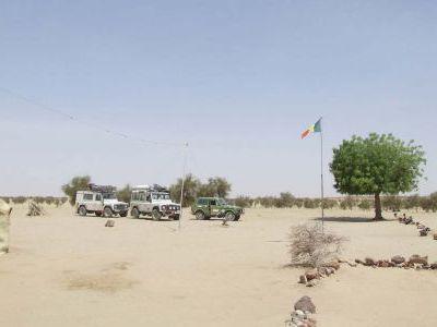 Погранпереход на границе Мавритания-Мали.