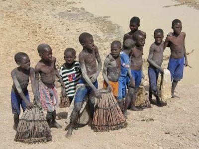 Маленькие рыбаки. Ловят  рыбку в притоках Нигера