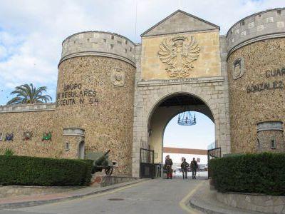 Медина(старая крепость) в центре Сеуты.