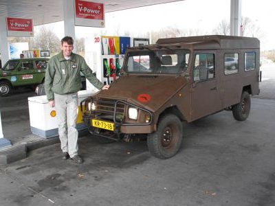 Голландский майор и его эксклюзивный авто.