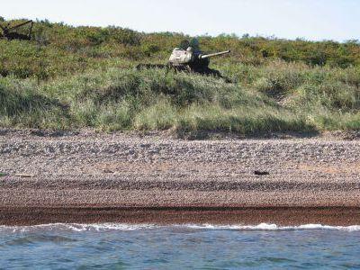 Танки-мишени Т34 для морских стрельб
