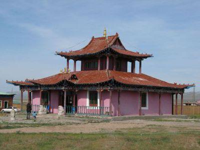 Действующий буддистский храм в одном из посёлков.
