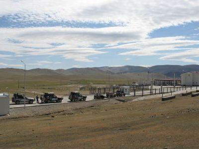 Монгольский пограничный терминал.