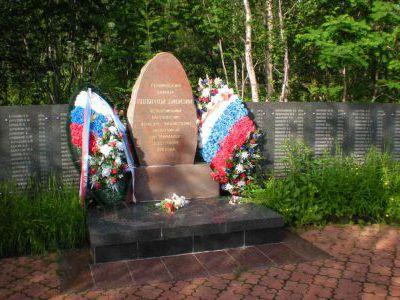 Много памятников бойцам-полярникам.