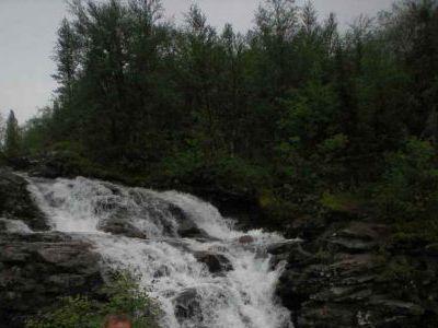 Вечерком у водопада.