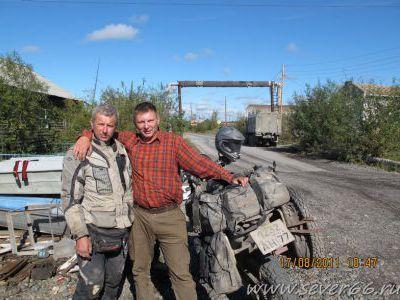 В Хандыге встретил мотоциклистов из offroadpeople.ru