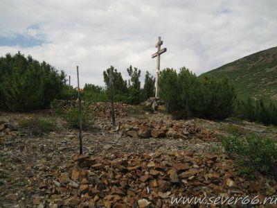 Крест на лагерном кладбище прииска