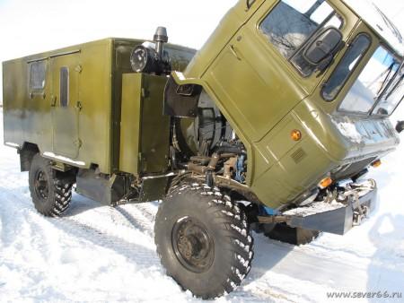 Газ-66 для охотхозяйства. Установка двигателя MAN D0824LFL, гидравлической лебёдки и другие работы.