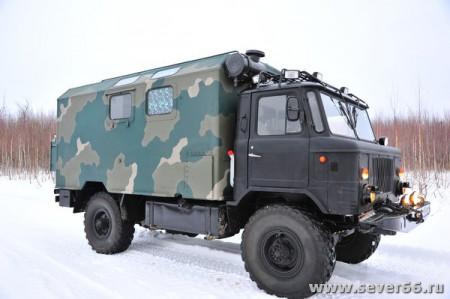 Дизельный автокемпер ГАЗ-66 для активного отдыха, охоты и рыбалки
